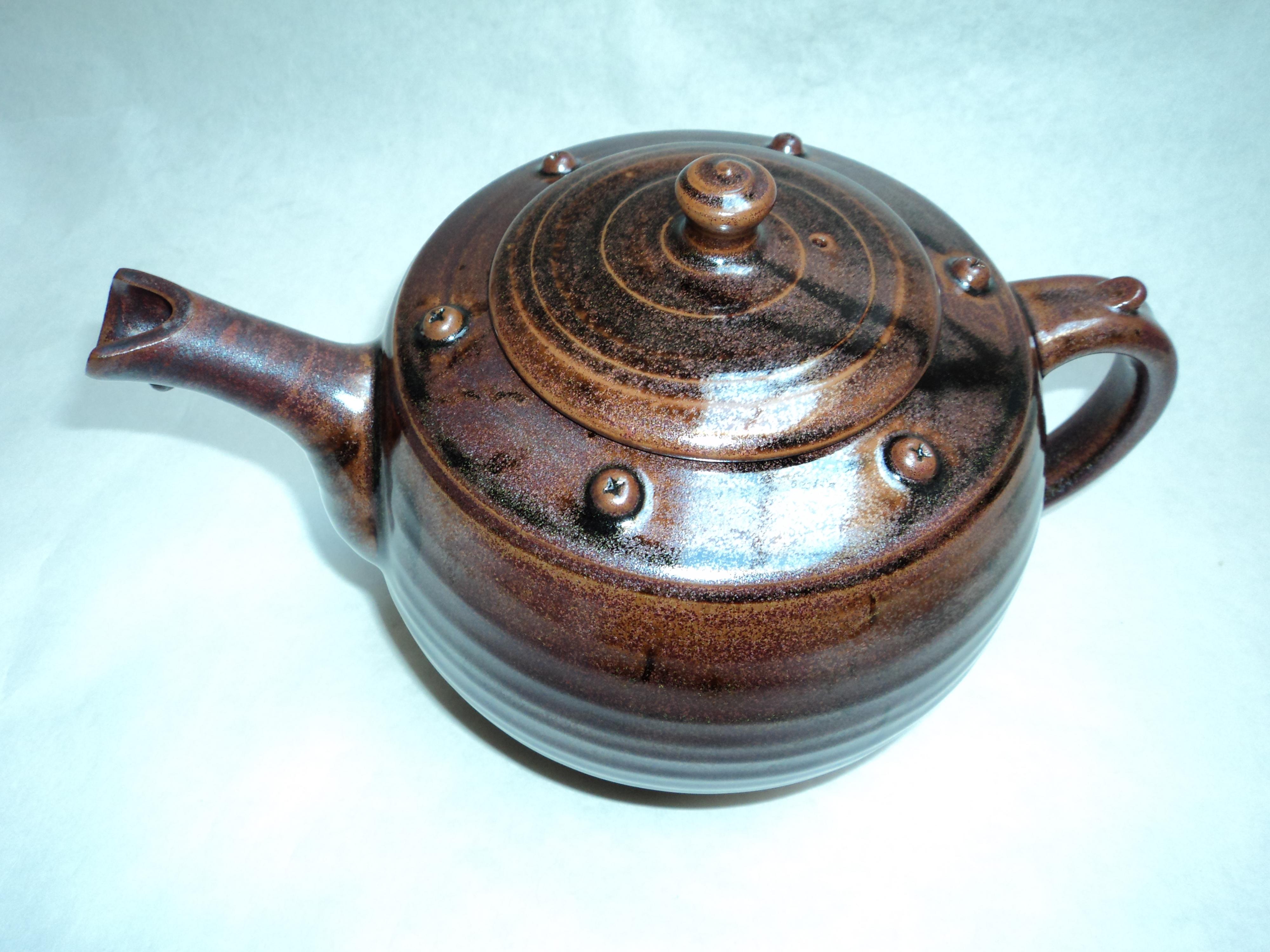 Tenmoku teapot.
