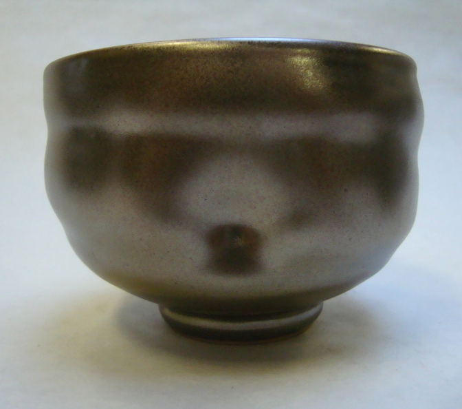 Teabowl with local clay glaze.