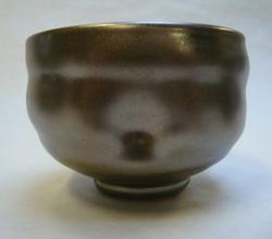 Teabowl with local clay glaze.