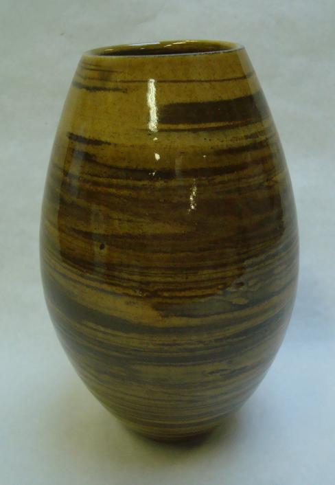 Agateware vase