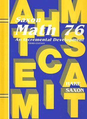 Saxon Math 7/6: Student Edition 2002