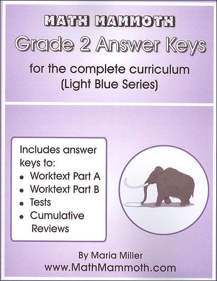 Grade 2 Answer Keys