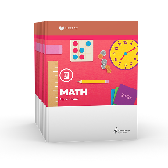 Lifepac Math 1st Grade Set of 10 LIFEPACs Only