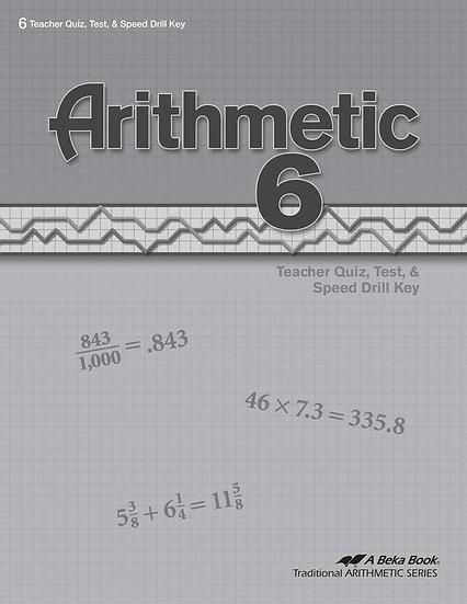 Arithmetic 6 Quizzes/Tests Key