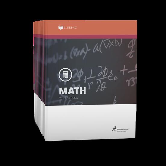 Lifepac Math Seventh Grade Set of 10 LIFEPACs Only