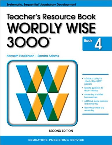 Wordly Wise 3000 Book 4 Teacher's Resource Book