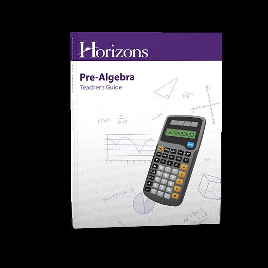 Pre-Algebra Teacher's Guide