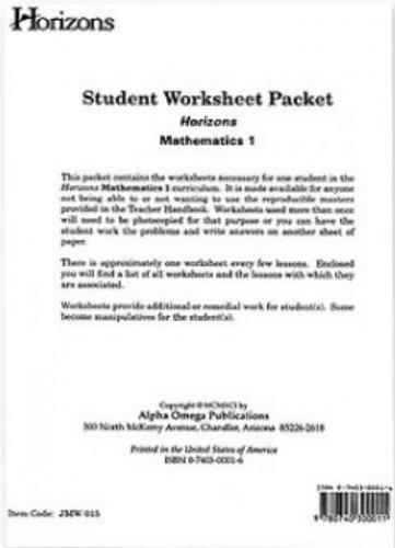 Abeka  Arithmetic 5 Work-Text Answer Key
