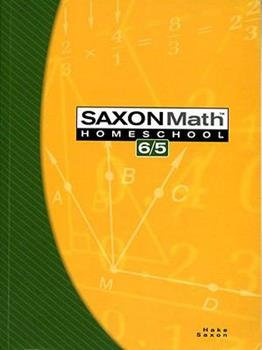 Saxon Math 6/5 textbook