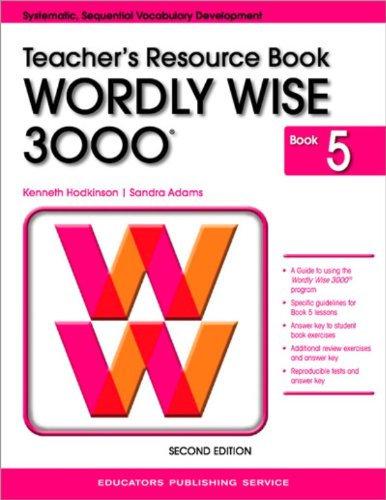 Wordly Wise 3000 Book 5 Teacher's Resource