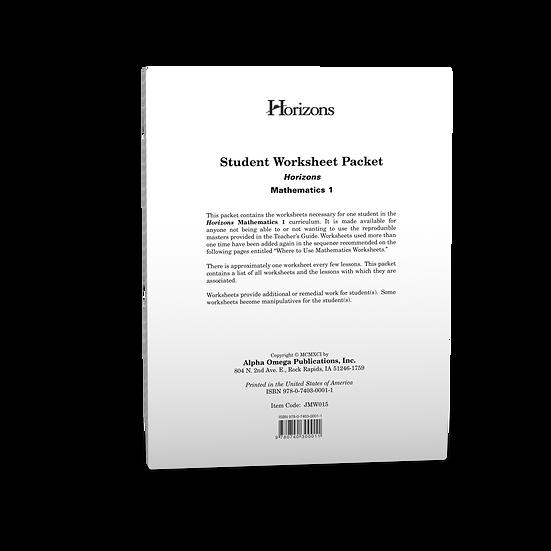 Horizons Math 1st Grade Student Worksheet Packet