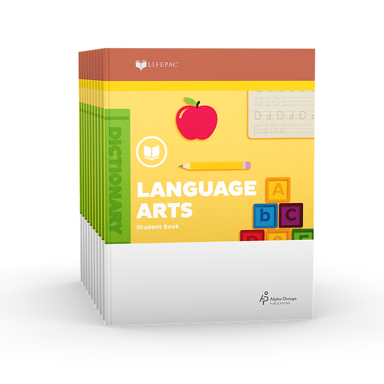 Lifepac Language Arts 1st Grade Set of 10 LIFEPACs Only