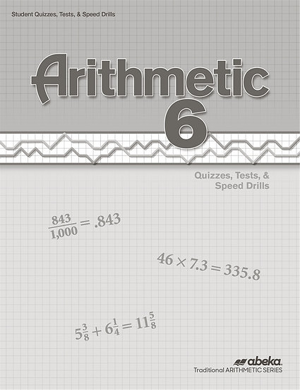 Arithmetic 6 Quizzes/Tests