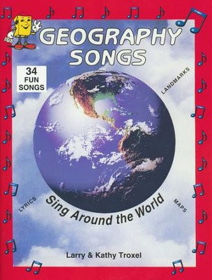 Geography Songs: Sing Around the World Book Only