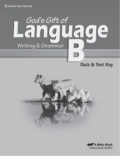 Language B Quiz & Test Key