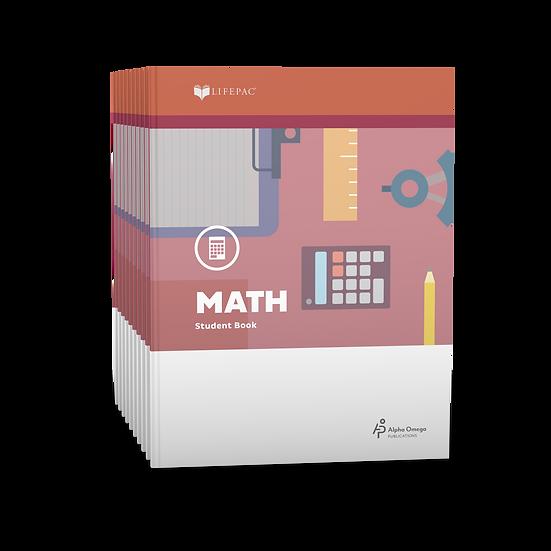 Lifepac Math Fifth Grade Set of 10 LIFEPACs Only