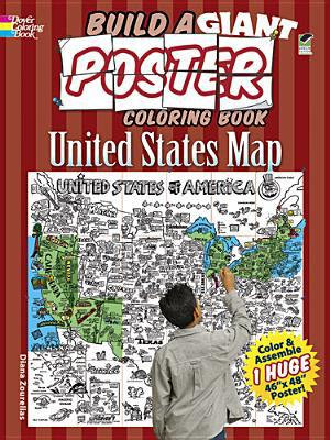 Build a Giant Poster Coloring Book -- United States Map (Dover)