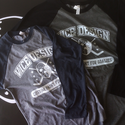 Vice Design Varsity Shirt - 3/4 Sleeve