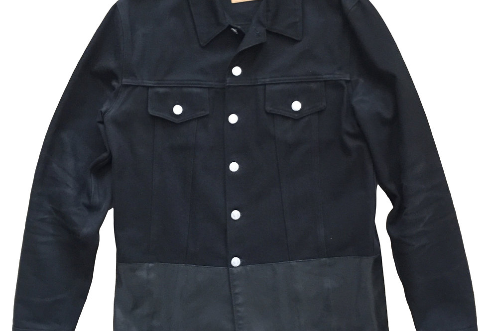 Helmut Lang 1997 Rubber Applique Denim Jacket