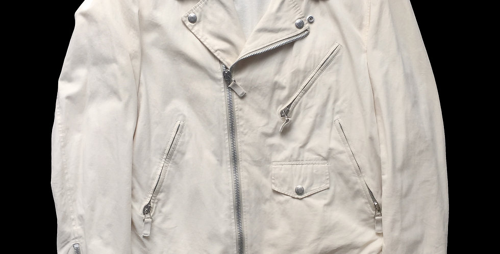 Helmut Lang AW04 Cotton Biker Jacket sz48