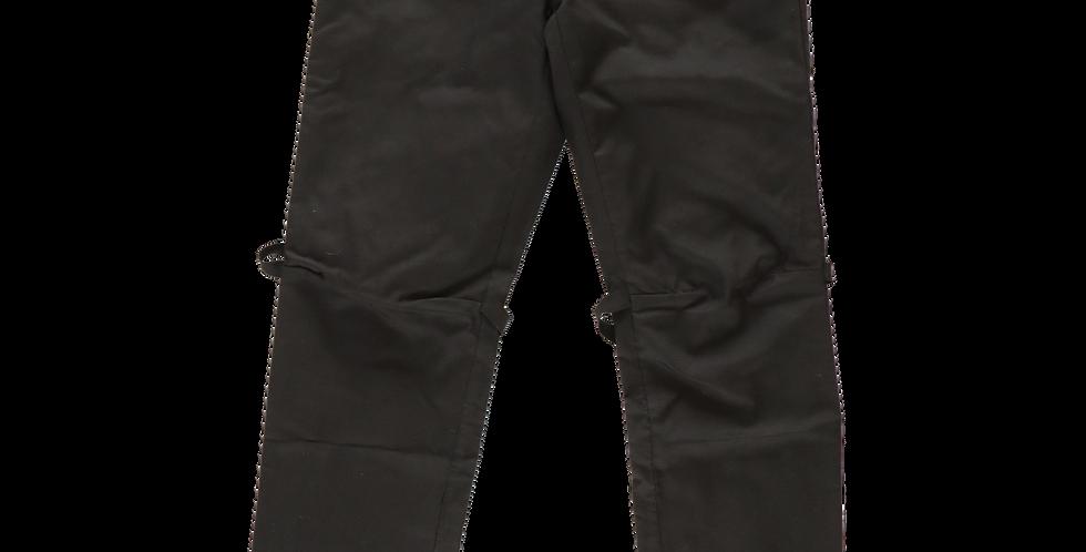 Helmut Lang AW99 Ballistic Nylon 5 Pocket Pants with Bondage Straps sz 48