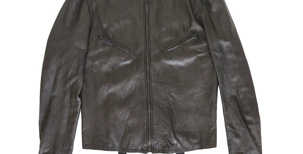 Helmut Lang 2000 Washed Leather Jacket