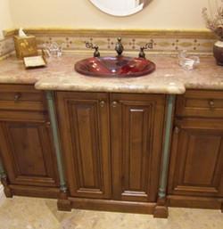 Bathroom Cabinet Refinishing