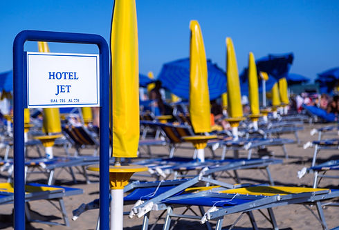 hotel jet has a private beach in jesolo