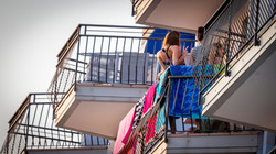 divertimento negli ampi balconi