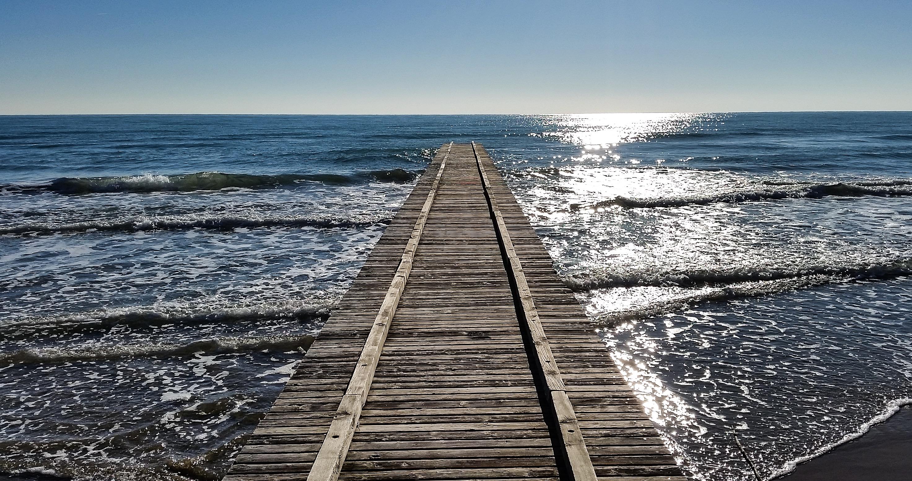 bridge in jesolo beach