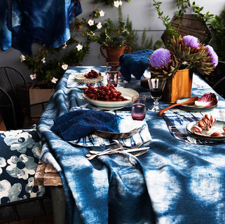 A shibori festive table