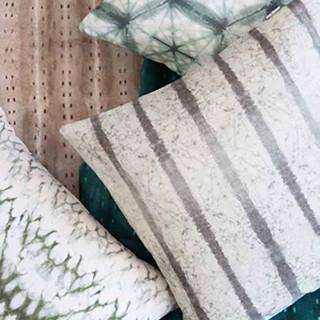 shibori cushions