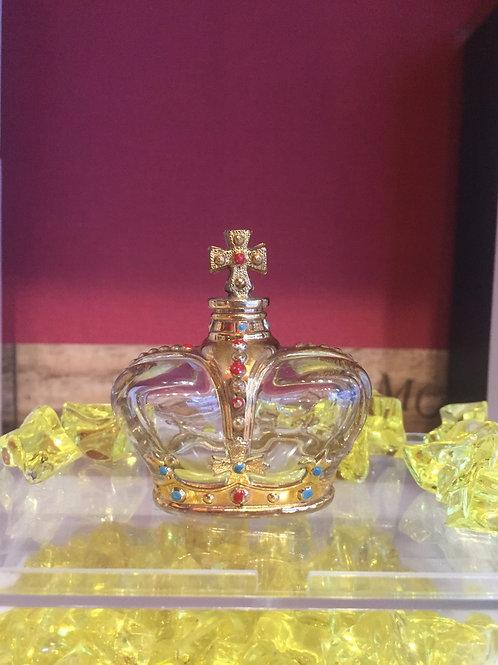 職人ハンドメイド 王冠 ビンテージ 香水瓶