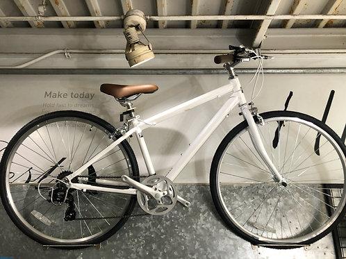 ホワイト クロスバイク(145cm~)