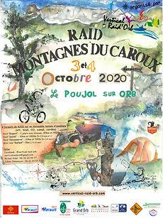 affiche du raid Montanges du Caroux 2020