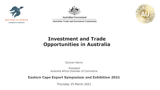 Investment and Trade Opportunities in Australia