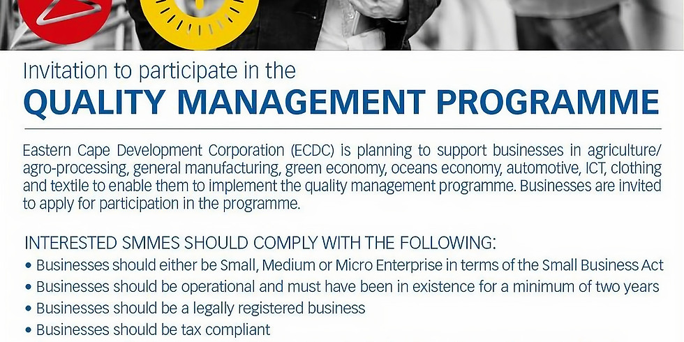 Quality Management Programme Training (Applications)