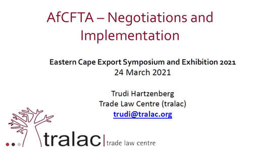 AfCFTA Negotiations and Implementation