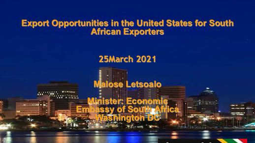 Export  opportunities in the US for African Exporters