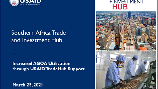 Increased AGOA Utilisation through USAID TradeHub Support