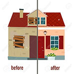 98945209-house-before-and-after-repair-v