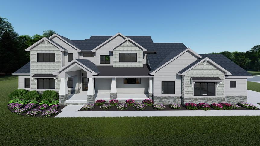 Mk Builders - Sands Residence - Front El