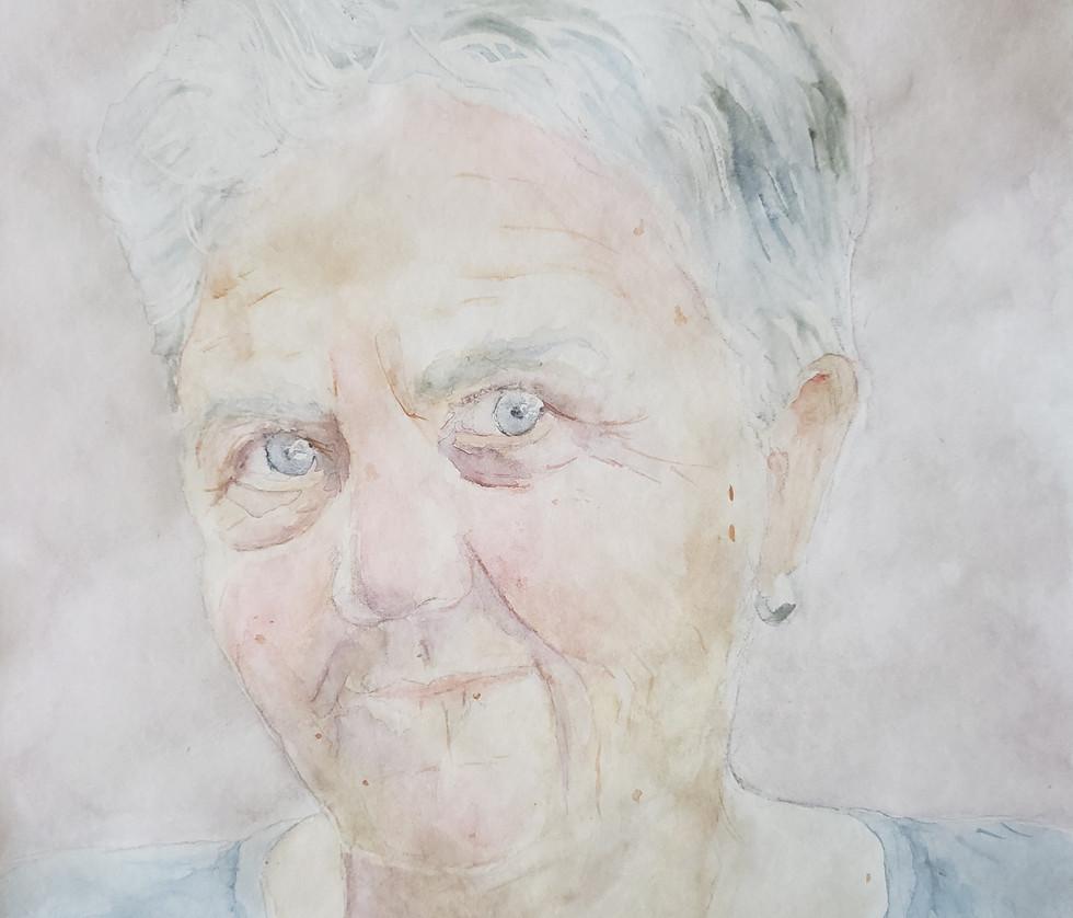 Watercolor Portrait of Anne