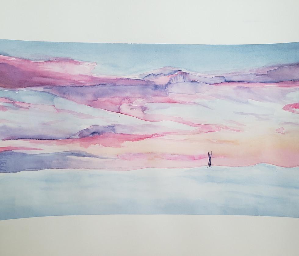 Watercolor Sky of San Francisco