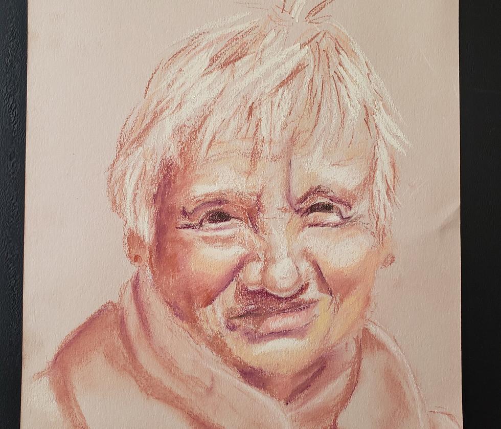 Pastel Portrait of Grandma Phyllis