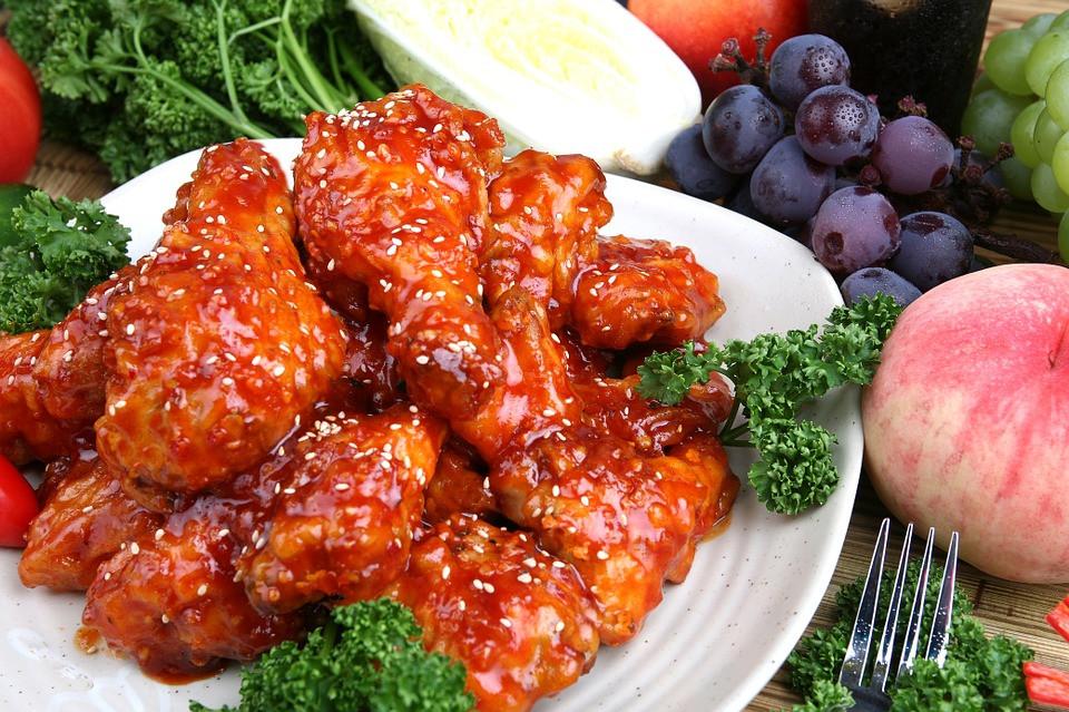 Seasoned fried chicken