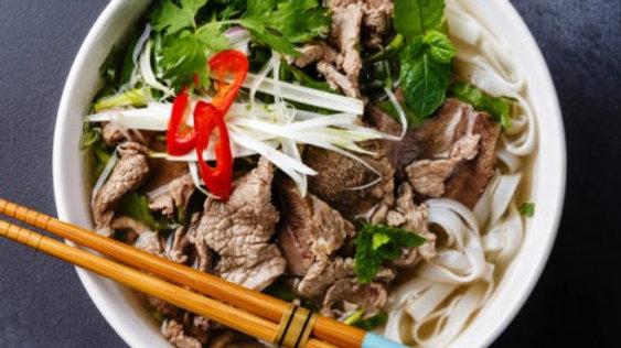 Vietnamese beef rice noodle