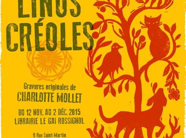 Exposition Linos Créoles Librairie Le Gai Rossignol à Paris