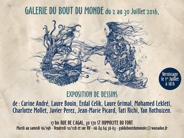 Exposition à la Galerie du Bout du Monde à St Hippolyte du fort