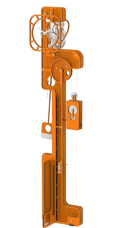 POP UP ORANGE - FREE STANDING CLOCK